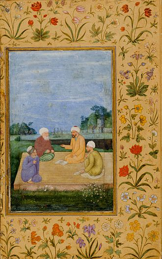 Mughal Imams in discourse Govardhan. A Discourse Between Muslim Sages ca. 1630 LACMA.jpg