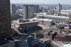 Government Center, Boston - View of Government Center from the Custom House Tower