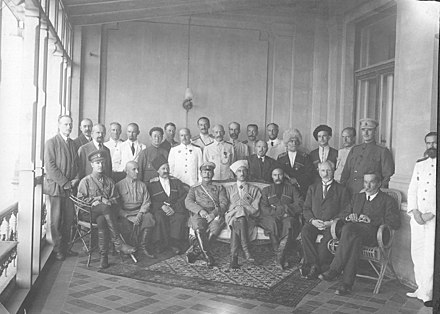 The Government of South Russia created by Pyotr Wrangel in Sevastopol, 1920 Government of South Russia 1920 cropped.JPG