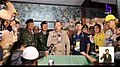 Governor Narongsak announcing reaching boys in Tham Luang cave.jpg