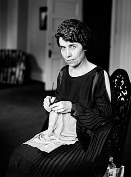 Grace Coolidge knitting