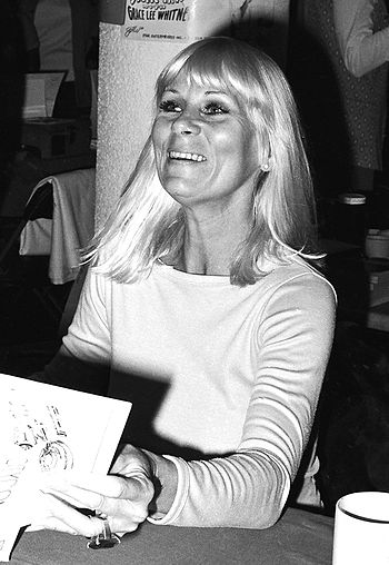 Grace Lee Whitney appearing at a science ficti...