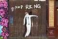 Graffiti in Shoreditch, London - No Parking by Escif (9444418213).jpg