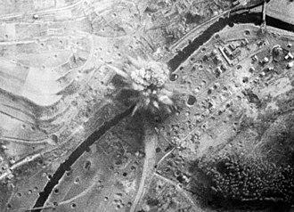 Grand Slam (bomb) - Grand Slam bomb exploding near Arnsberg viaduct 1945