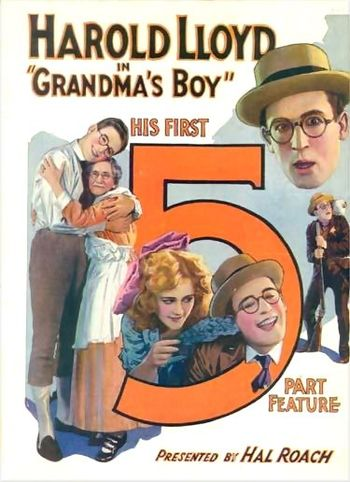 "Poster for 1922 Harold Lloyd film ""Grandm..."