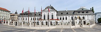 Hodžovo námestie - Grassalkovich Palace — today the seat of the President of the Slovak republic.