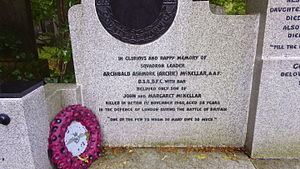 Archie McKellar - photograph of headstone