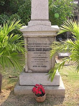 Bangkok Protestant Cemetery - Grave of Dan Beach Bradley