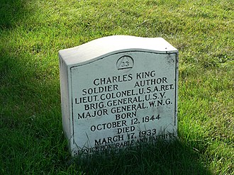 Charles King (general) - Gravesite in Forest Home Cemetery
