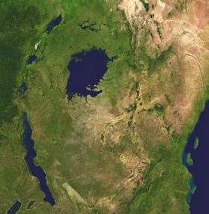 African Great Lakes - Satellite view of the African Great Lakes region and its coastline.