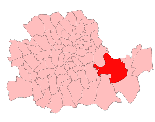 The seat and others in the County of London 1918-49 Greenwich1918.png
