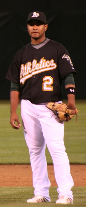 Petit with the Oakland Athletics Gregorio Petit.jpg