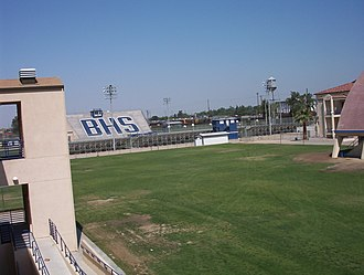 Bakersfield High School - A view from the science building looking out on Griffith Field