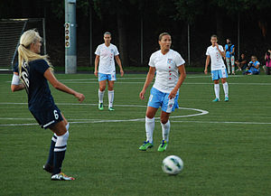 Inka Grings - Grings during a match against Seattle Reign FC on 25 July 2013 in Tukwila, Washington.
