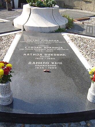 Belgrade New Cemetery - Image: Grob Kiša, Vukovića, Aralice, Lubarde