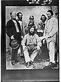 Group of six men - Thos. Horn, Jas Sowden, Capt Ward, Waffer, Mr Dashwood, Thos. McShurk Gibson(GN02575).jpg