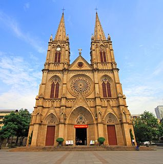 Roman Catholic cathedral in Guangzhou (Canton), South China