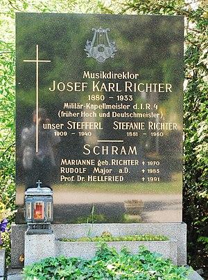 Josef Karl Richter - Josef Karl Richter's grave in Zentralfriedhof Vienna, Austria