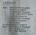 GuentherZ 2013-01-12 0255 Wien11 Zentralfriedhof Gruppe68 Soldatenfriedhof italienisch WK1 Namenstafel Grab32.JPG