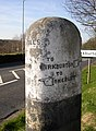 Guide stone, Penistone Road - Riley Lane, Kirkburton (2) - geograph.org.uk - 393849.jpg