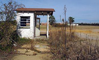 Prairie, Mississippi - Former main gate to Gulf Ordnance Plant