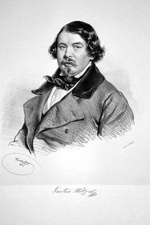 Gustav Hölzel - Gustav Hölzel, Lithograph by Josef Kriehuber, 1847