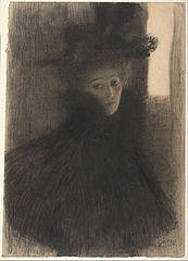 Portrait of a Lady with Cape and Hat