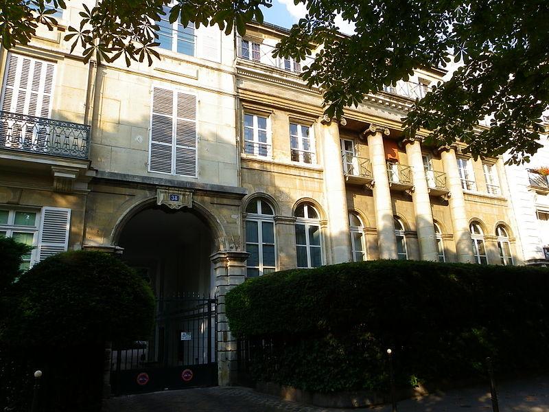 File:Hôtel des Colonnes au 38 avenue Gabriel à Paris.JPG