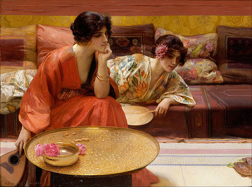 H. Siddons Mowbray - Idle Hours - Google Art Project