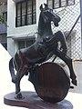 HK Central Shelley Street 列拿士地臺 Rednaxela Terrace horse Sept-2011.jpg