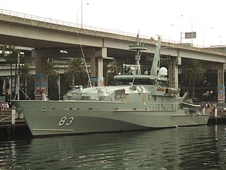 Patrol boat - HMAS Armidale of the Royal Australian Navy