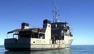 Craft of Opportunity Program - Image: HMAS Brolga