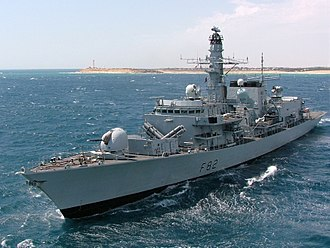 Anti-submarine warfare - Royal Navy Type 23 frigate is an anti-submarine vessel.