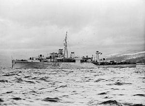 HMS Wren (U28) - Image: HMS Wren, Sloop, at Sea. A15037