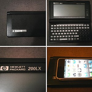 HP 200LX - Size comparison with 2007 Apple iPhone