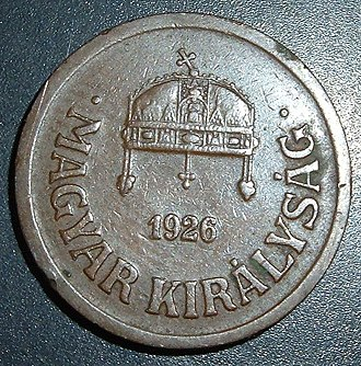 Coins of the Hungarian pengő - Image: HU Pf 2 1931 reverse