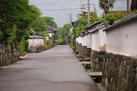 Hagi-shi Horiuchi-chiku, Yamaguchi, samurai quarter.JPG