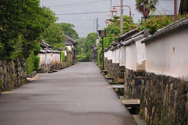 Hagi-shi Horiuchi-chiku,  Yamaguchi, samurai quarter