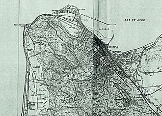 1932 in Mandatory Palestine - Haifa 1932 1:20,000