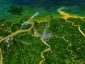 Haiphong - NASA image of Haiphong