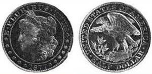 Morgan dollar - A pattern half dollar created by George T. Morgan