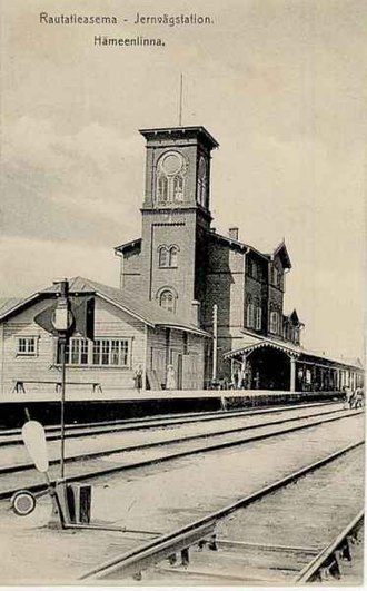 Hämeenlinna railway station - The old station building at Hämeenlinna was built in 1862.