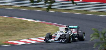 Lewis Hamilton during the 2015 Hungarian Grand Prix on Hungaroring Hamilton Hungary 2015 Qual.jpg