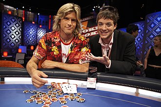 Hamish & Andy - Hamish Blake, with Andrew Günsberg, appearing on Joker Poker in 2005.