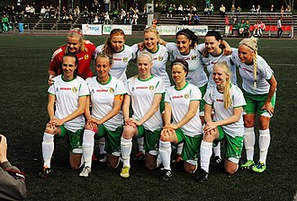 Hammarby Fotboll (women) - Before a match with Älta IF in 2013