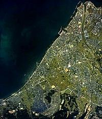 Hannan city center area Aerial photograph.1985.jpg