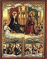 Hans Burgkmair d. Ä. - Allerheiligenaltar, Maria und Christus thronend - 5325 - Bavarian State Painting Collections.jpg