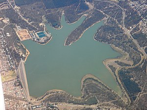 Happy Valley Reservoir - Aerial view of Happy Valley Reservoir in early 2007