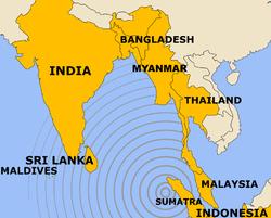 kart over indiahavet Jordskjelvet og tsunamien i Indiahavet 2004 – Wikipedia kart over indiahavet