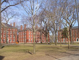 Ivy League - Harvard Yard, 2007: Hollis Hall, Stoughton Hall, and Holworthy Hall